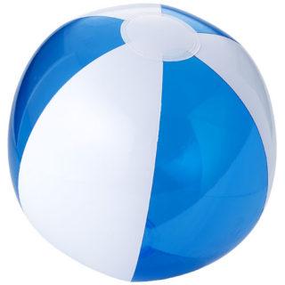 Ballon de plage plastique blanc et bleu