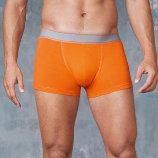 boxer homme orange à personnaliser