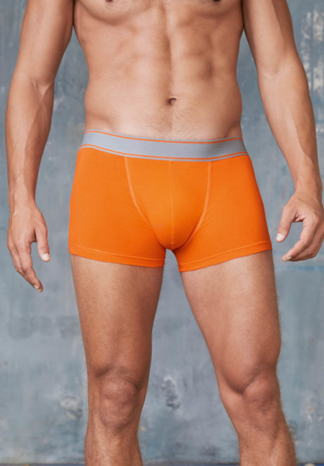 boxer homme orange à personnaliser