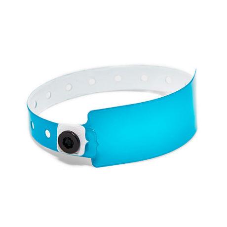 Bracelet plastique bleu personnalisable