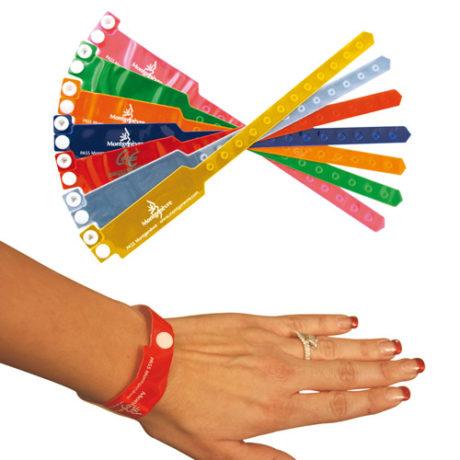 Gamme de couleurs bracelet plastique