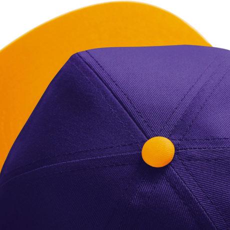 Casquette snapback bicolore jaune et violette