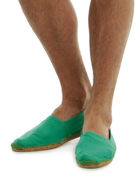 Espadrilles coton vert