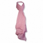 Foulard viscose unicolore rose