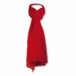 Foulard viscose unicolore rouge