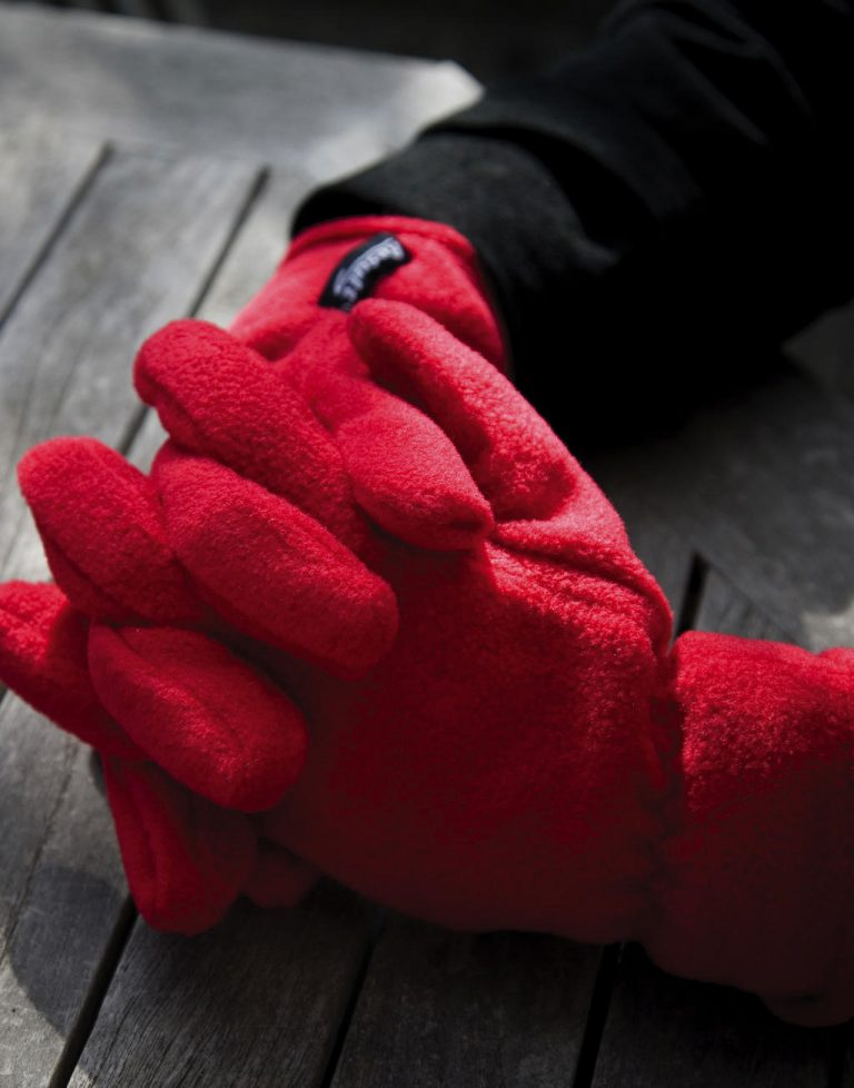 Gants polyester rouge