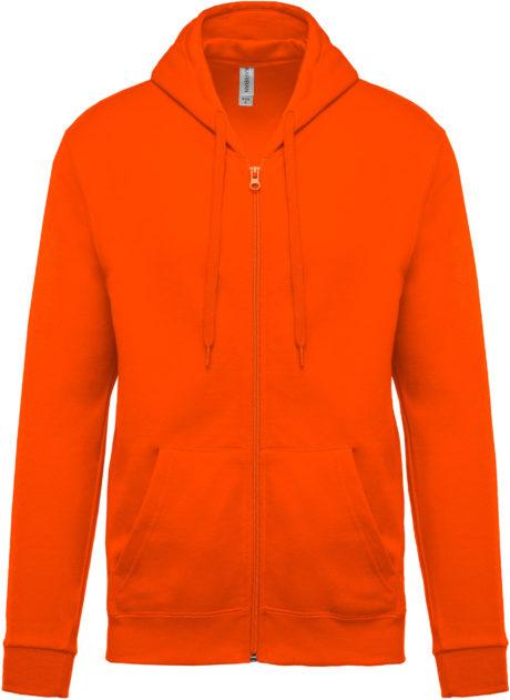 sweat à capuche orange