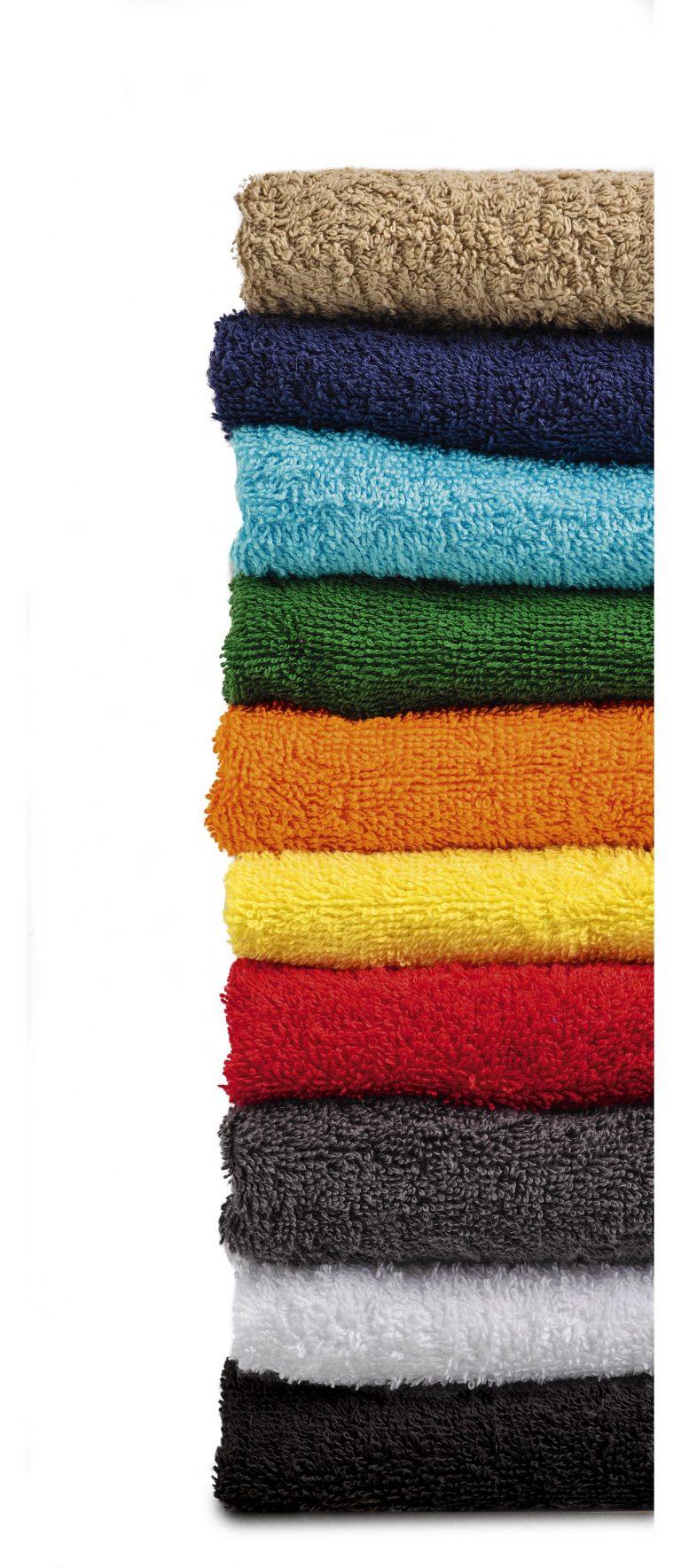 gamme de couleurs serviette éponge