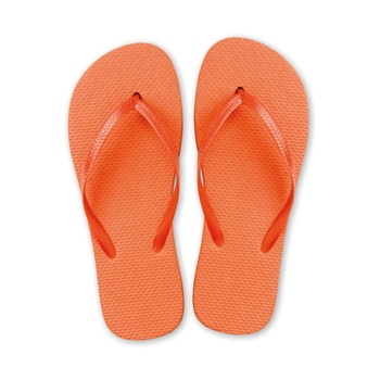 Tongs plage orange