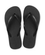tongs-unicolore-plastique-noir