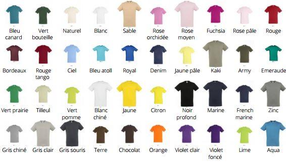 Code couleur REGENT