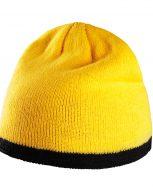 bonnet-hiver-jaune-tricot