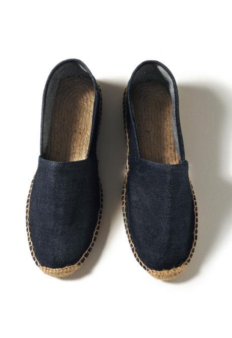 Espadrilles coton couleur jean