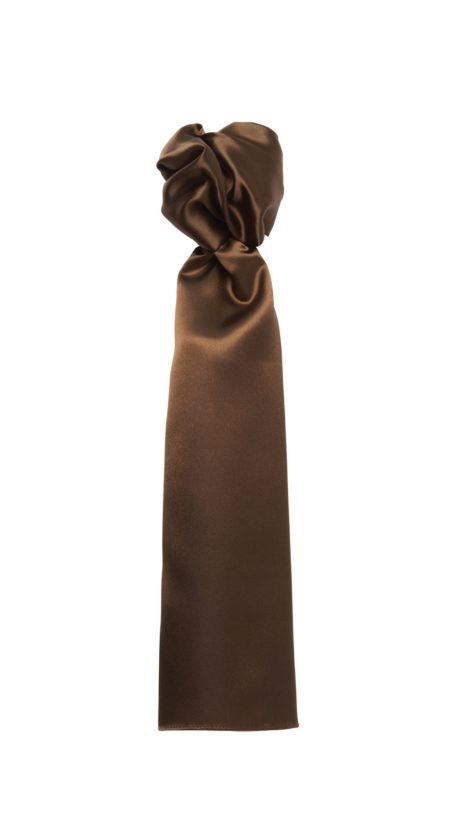 Foulard unicolore marron