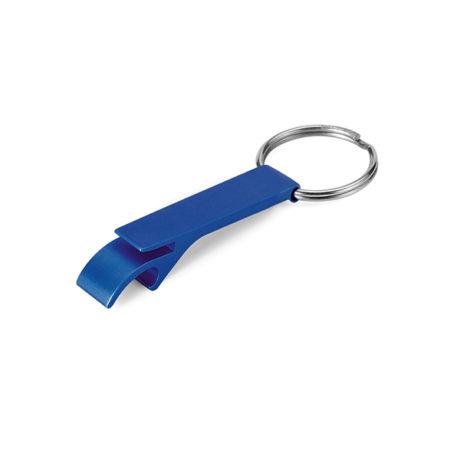 Porte clé décapsuleur bleu