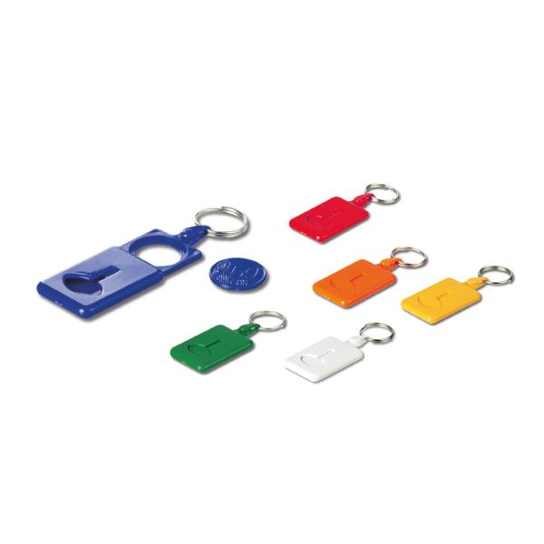 Gamme de couleurs porte clé plastique