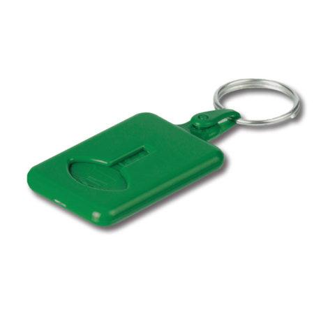 Porte clé plastique vert