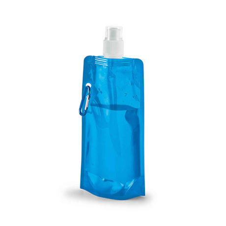Gourde plastique pliable bleu