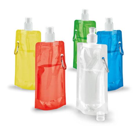 Gamme de couleurs gourde plastique pliable