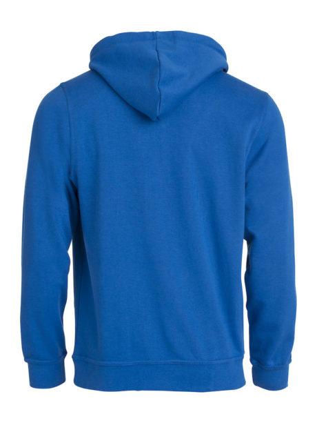 sweat à capuche basique dos bleu
