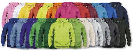 gamme de couleurs pour sweat à capuche basique