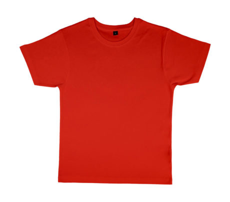 tee shirt col rond rouge
