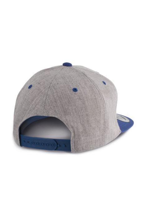 casquette snapback dos gris chiné et bleu