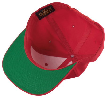 casquette snapback rouge et verte