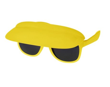 lunette avec visière jaune