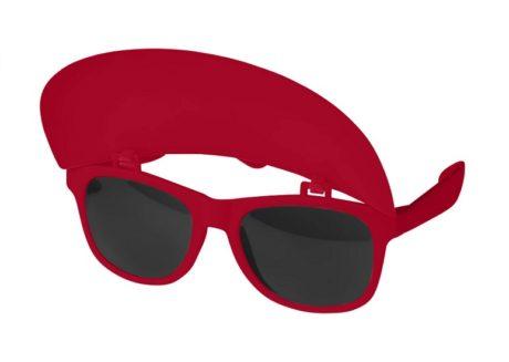 lunettes avec visière rouge