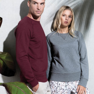 sweat col rond coton bio personnalisable