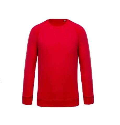 sweat col rond bio rouge