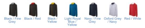 Couleurs disponibles pour le Sweat shirt zippé bicolore kid
