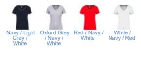 Couleurs disponibles pour le T shirt Maille piquée col V femme