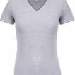 tee shirt col v femme gris chiné