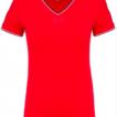 tee-shirt col v femme rouge