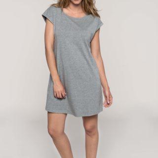 tee shirt robe gris chiné