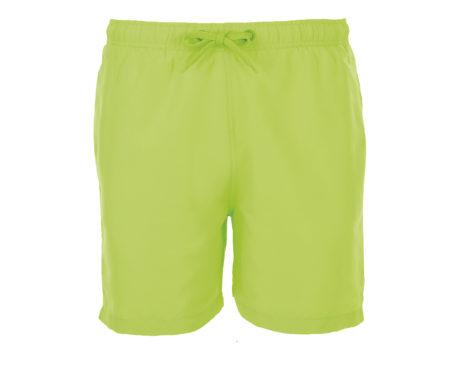 Short de bain vert fluo