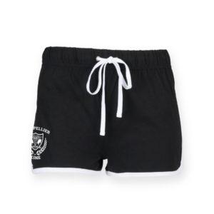 Shorty noir avec logo blanc sur le côté