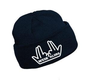 Bonnet bleu marine avec logo blanc