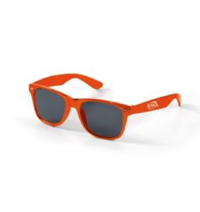 Maquette lunettes orange avec verres foncés