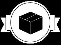 Icone carton noir