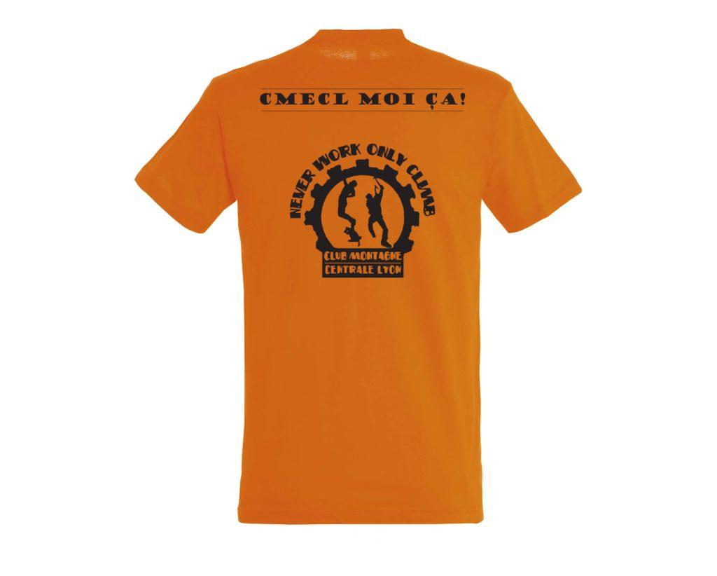 Maquette logo dos sur t shirt orange
