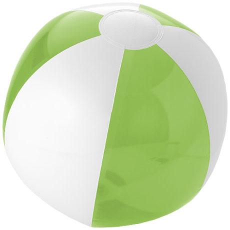 Ballon de plage plastique blanc et vert