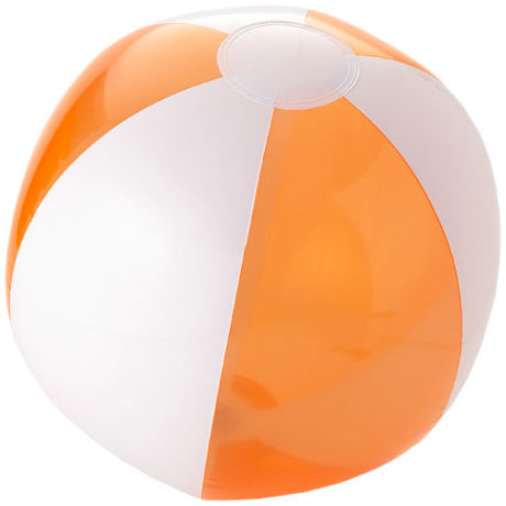 Ballon de plage plastique orange et blanc