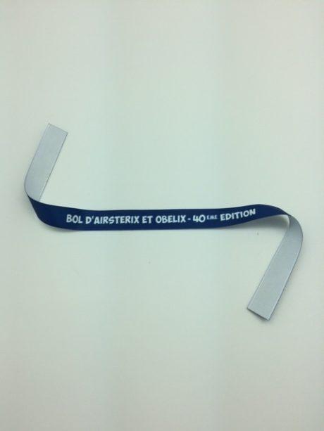 Bracelet tissu personnalisable bleu et blanc