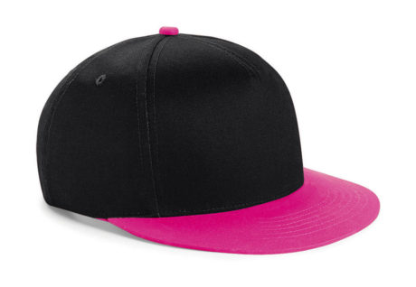 Casquette snapback bicolore rose et noire