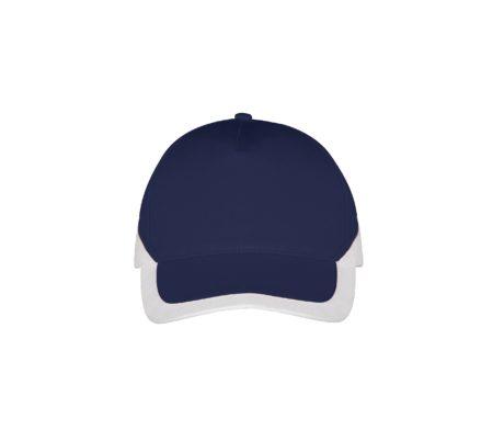 Casquette bicolore bleu marine et blanc