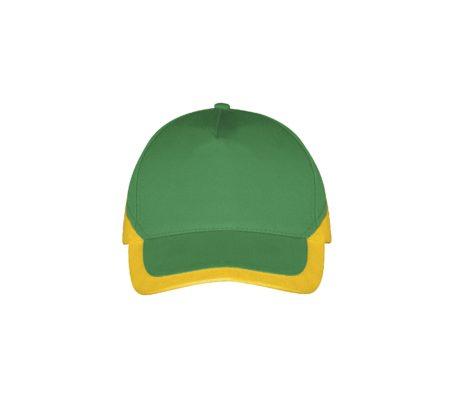 Casquette bicolore vert et jaune