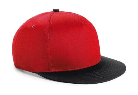 Casquette snapback bicolore rouge et noire
